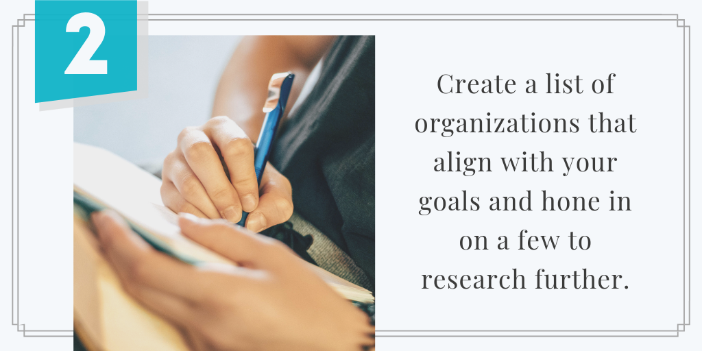 List Nonprofits that Alight with Goals