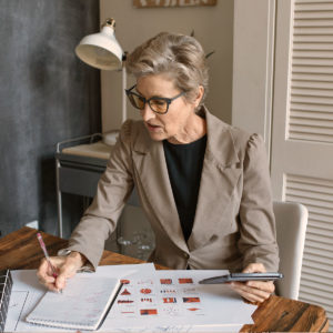Woman Doing Financial Planning