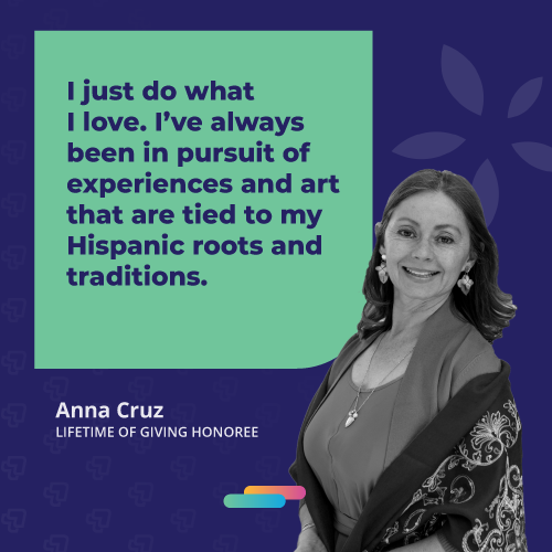 Anna Cruz quote says I just do what I love. I've always been in pursuit of experiences and art that are tied to my Hispanic roots and traditions.